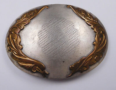 Vintage Irvine & Jachens Comstock Silver with Brass Accents Belt Buckle