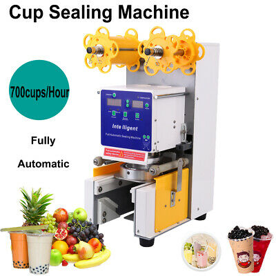 Tea Equipment Packing & Shipping Full-auto 110v Cup Sealer Sealing Machine Coffee Boba Bubble Tea 025csm32
