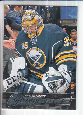 15/16 Ud Series 2 Linus Ullmark Young Guns Rc Sp Rookie #472
