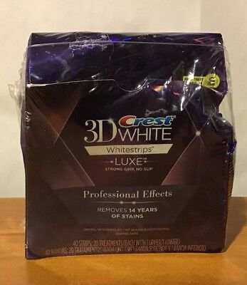Crest 3D Whitestrips Luxe Professional Effects 40 Strips 20 Treatments 03/2018