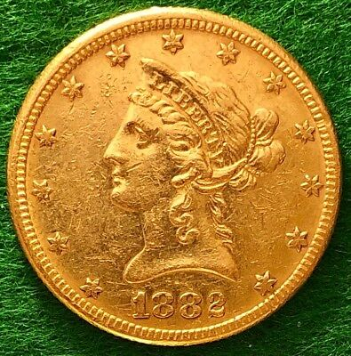 1882  Ten Dollar $10 Liberty Head, Gold Eagle, Make offer! Pre-1933, .48375 ozt.