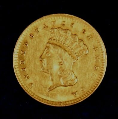 1856 $1 Gold Princess Coin **Soldered Reverse**
