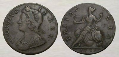 ☆ AWESOME !! ☆ 1731 King George II Colonial Coin ☆ NICE DETAIL, BETTER GRADE !!!