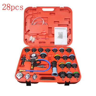 28PCS Radiator Pressure Cooling System Leak Tester Water Tank Detector with Case