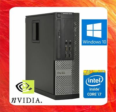 Dell Pc Optiplex 9010 Intel Core I7 3.4Ghz 8Gb 500Gb Dvdrw Nvidia Hdmi Win10 Pro