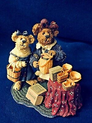 Longaberger Boyds Bears Collectors Club Kimberly & Kaitlyn Rare New 2001
