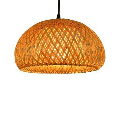 Chinese Hand Knitted Bamboo Pendant Lamp LED Bamboo Lantern Shades(Without Bulb)