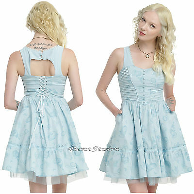 LE Disney Alice Through The Looking Glass Blue Tea Party Corset Cosplay Dress