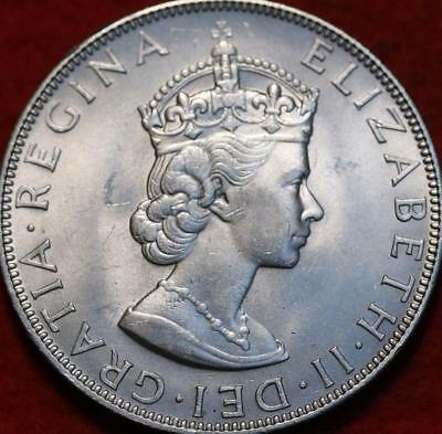 Uncirculated 1964 Bermuda 1 Crown Silver Foreign Coin