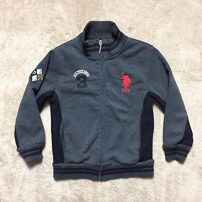 US Polo Assn Boys Sweater Full Zip Embroidered Logo SZ(5/6)