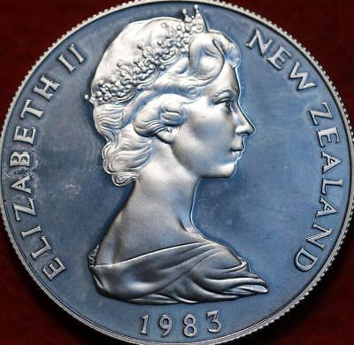 Uncirculated 1983 New Zealand $1 Silver Foreign Coin