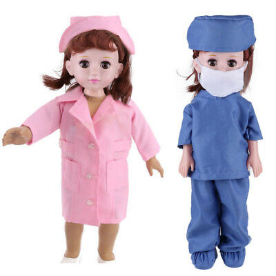 6pcs Doctor Nurse Handmade Clothes Dress Accessories Lot For 18 inch Girl Doll