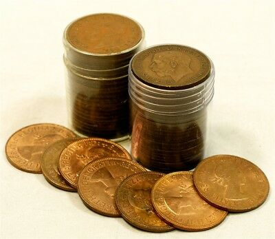 1862-1967 Great Britain Large Cent, Penny Collection - 57 Coins