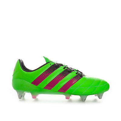 5f9e7821a431 adidas performance Mens Ace 16.1 SG Leather Football Boots in Green