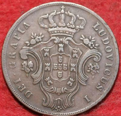 1865 Portugal Azores 10 Reis Foreign Coin