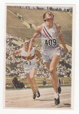 1932 Olympics Card WILLIAM CHARLES USA 100Mm Famous American Indians HOF