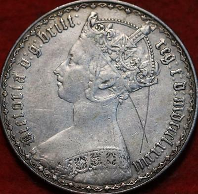 1883 Great Britain Florin Silver Foreign Coin