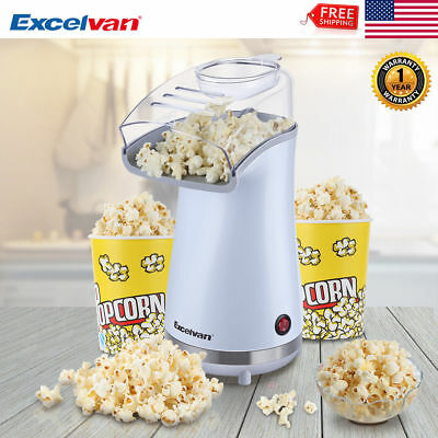 Air Pop Popcorn Machine Popper Maker Small Tabletop Home Party Snack 16 Cups Lid