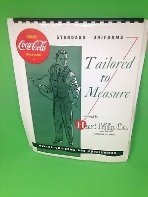 Coca Cola Hart Mfg Co Ohio Standard Winter Uniforms Tailored To Measure Binder