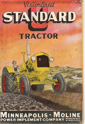 Minneapolis Moline U Standard Tractor Brochure