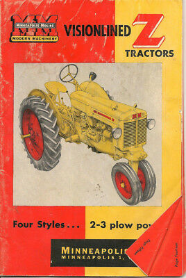 Minneapolis Moline Visionlined Z Tractor Brochure