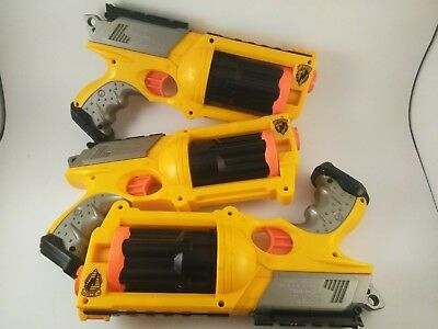 Lot of 3 Nerf Maverick Rev-6 dart guns
