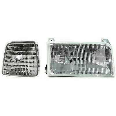 Headlight Kit For 1992-1996 Ford F-150 F-250 Bronco 1992-1997 F53 F59 Right 2pc