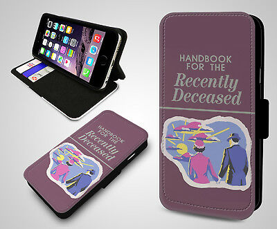 Handbook for the Recently Deceased Book James Hunt Leather Phone Flip Case Cover