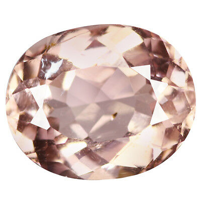 3.93Ct Superb Oval cut 11 x 9 mm 100% Natural Pink Morganite