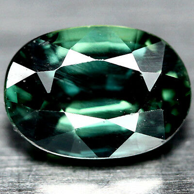 1.25 CT NATURAL HEATED BLUISH GREEN AUSTRALIA SAPPHIRE OVAL 5 X 7 mm.