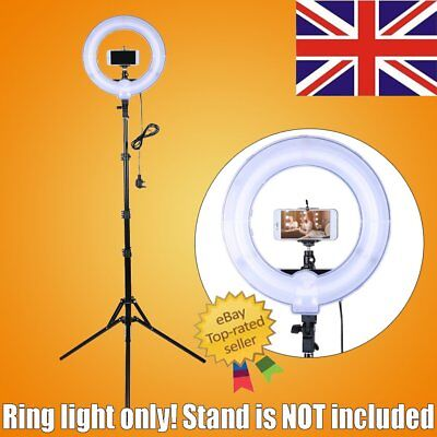 Studio 400W 34cm Photo Video Fluorescent Ring Light Undimmable Carrying Bag