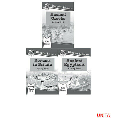 New KS2 Discover & Learn Ancient History Collection by CGP Books 3 Books Set