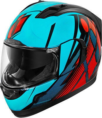 Icon Alliance GT Primary Full Face Street Helmet Blue/Red Adult All Sizes