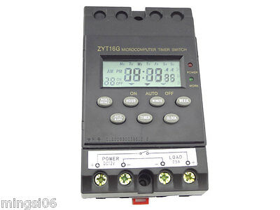 12V Timer Switch Timer Controller LCD display,programmable timer switch 25A amps