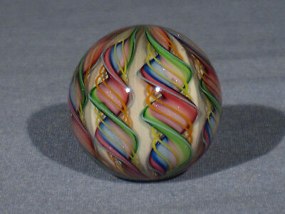 Marbles: Hand Made Art Glass James Alloway Dichroic 7 Cane #2712     1.25inch