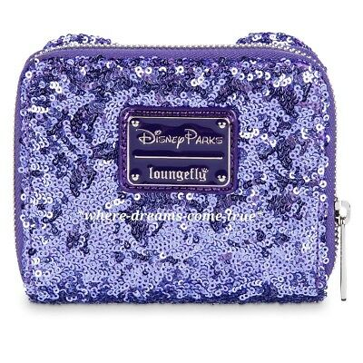 Disney Parks Minnie Mouse  Potion Purple Sequined Wallet By Loungefly (NEW)
