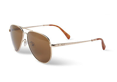 3e01999d86ae TOMS Unisex 10010600 Maverick 301 Shiny Gold Zeiss Polarized Lens Sunglasses
