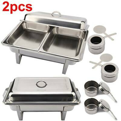 Pack Of 2 Olympia Stainless Steel Chafing Dish Sets Free Next Day Delivery New