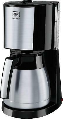 Melitta Enjoy Top Therm Filterkaffeemaschine mit Thermkanne, Schwarz