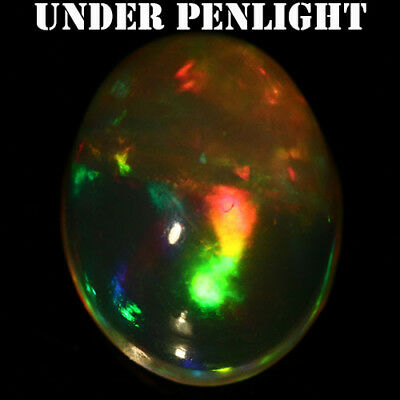 1.50 Ct Natural! Fancy Clr Play Ethiopia Opal Oval Cabochon
