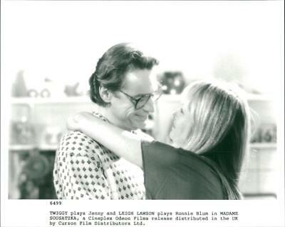 Jenny and Leigh Lawson plays Ronnie Blum in Madame Sousatzka. - Vintage photo