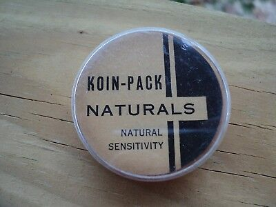 """3 Vintage 1950s"""" KOIN-PACK"""" Prophylactic Rubber Condoms Container - Akron Ohio"""