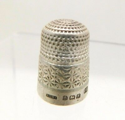1925 Antique Hallmarked Silver Thimble - Henry Griffith & Son