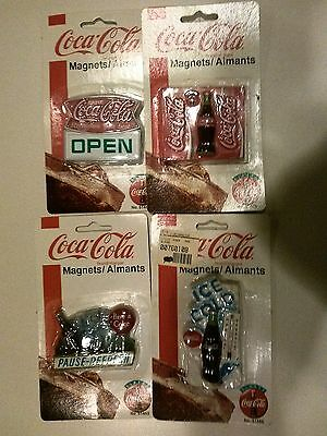4 Packs OF Coca Cola Magnets-Ice Cold=Bottle-Open & Pause Refresh -1997 & 1999