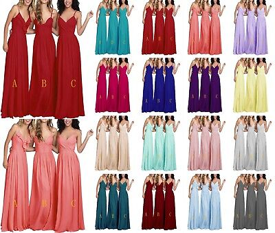 3 Types Formal Long Party Ball Gown prom Bridesmaid Evening Dresses Size 6-24
