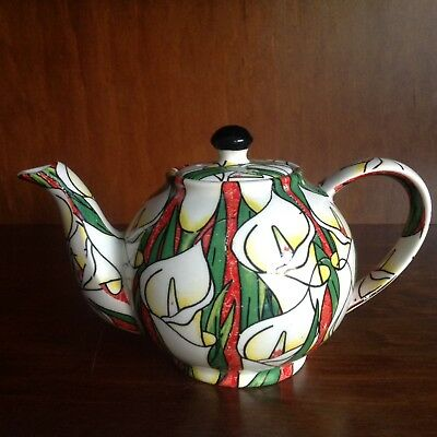 Paul Cardew Design Lillies 0.75 Pint Tea Pot For One Good Condition