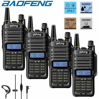 4x Baofeng Two Way FM Ham Walkie Talkie UHF VHF Radio IP67 Waterproof Interphone