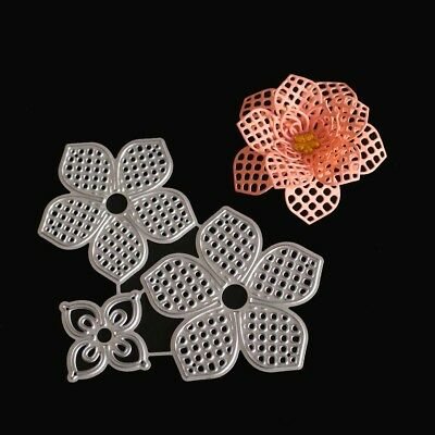 DIY Embossing Cutting Dies Tool Mould Hollow Mold 3D Flower Metal For Scrapbooki