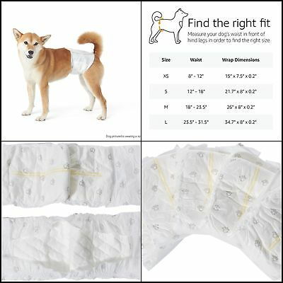 30 Pack Small Size Waist Disposable Dog Diapers Male Wraps Belly Bands Pet Soft