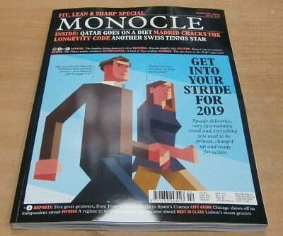 Monocle magazine #120 Feb 2019 Fit, Lean & Sharp Special + Qatar goes on a diet